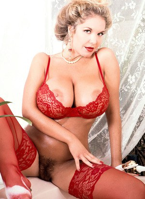 Screaming chubby lingerie curly