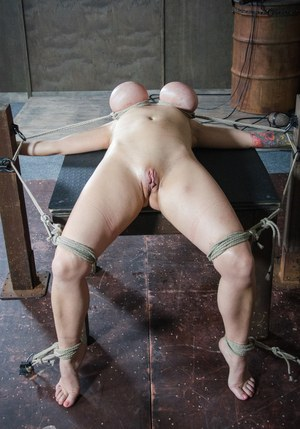Submissive Woman In Stocking